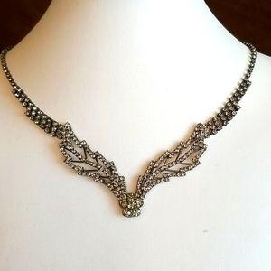 Black Diamonds 💥 Rhinestones CLASSIC necklace